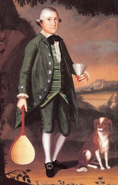 1770-75 William Williams (American Colonial era painter, 1727-1791). Boy with Battledore and Shuttlecock, Possibly of the Crossfield Family.