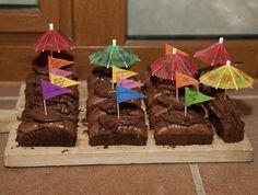 #Brownies con ganaché de chocolate #Cumpleaños #CateringOriginal