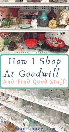 Have you visited your local Goodwill lately? If not you just might be missing ou… Have you visited your local Goodwill lately? If not you just might be missing out. Here is how I shop at Goodwill and find good stuff. Thrift Shop Finds, Goodwill Finds, Thrift Store Shopping, Thrift Store Crafts, Thrift Store Decorating, Shop Goodwill, Thrift Shop Outfit, Flea Market Crafts, Thrift Store Refashion