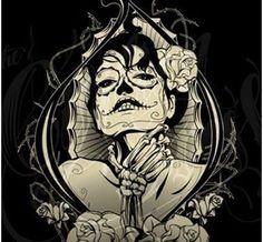 Mexican Skeleton Bride Tattoo