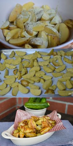 Outrageously Delicious Ranch Roasted Potatoes, they only take a few minutes to prepare.