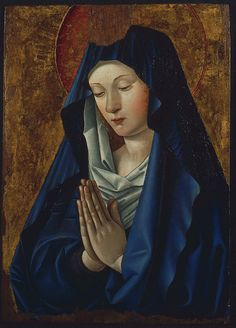 "koredzas:  ""Attributed to Jean Bourdichon - The Virgin in Prayer. 1480  """