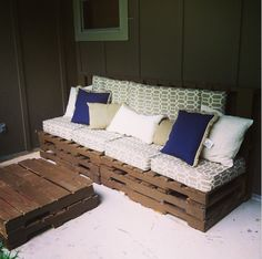 Back Porch Pallet DIY Project