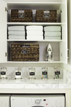 50 Farmhouse Laundry Room Organization Decor Ideas February Leave a Comment Modern farmhouse laundry rooms are a good investment for you and your family. After you purchase your washer and dryer, think about installing some built in fo Laundry Closet, Small Laundry, Laundry In Bathroom, Laundry Rooms, Bathroom Storage, Bathroom Medicine Cabinet, Small Bathroom, Laundry Room Organization, Laundry Room Design