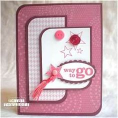 love the shape....stampin up graduation cards - Bing Images