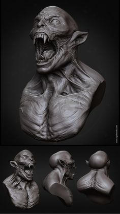 Creature_Bust by *SelWorks on deviantART