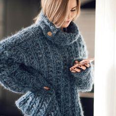 Fluffy Sweater, Mohair Sweater, Camilla, Topaz, Denim, Knitting, Sweaters, Fashion, Threading
