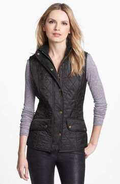 Free shipping and returns on Barbour 'Cavalry' Quilted Vest at Nordstrom.com. An iconic quilted jacket is reinterpreted as a fitted gilet with a refined equestrian vibe. A touch of bright contrast peeks out the front while an elastic inset in back refines the fit.