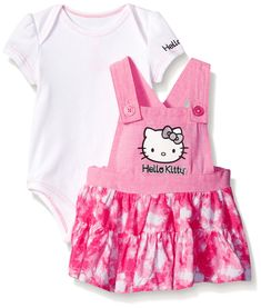 Hello Kitty Baby 2 Piece Jumper Set Sugar Plum 03 Months -- Learn more about the wonderful product at the image web link. (This is an affiliate link). Newborn Girl Outfits, Cute Baby Girl Outfits, Toddler Outfits, Boy Outfits, Disney Baby Clothes, Cute Baby Clothes, Baby Disney, Hello Kitty Clothes, Hello Kitty Baby