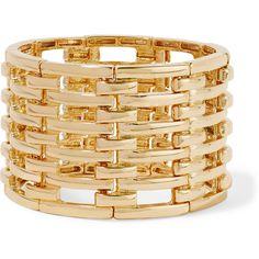 Kenneth Jay Lane Gold-tone bracelet (380 VEF) ❤ liked on Polyvore featuring jewelry, bracelets, metallic, gold tone jewelry, kenneth jay lane, kenneth jay lane bangles, gold tone bangles and goldtone jewelry