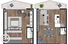 Vitacon - Life is on Casa Loft, Loft House, Tiny House, Future House, Loft Floor Plans, Compact House, Concept Architecture, Lofts, Home Projects