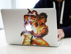 Street Fighter Ryu MacBook Decal