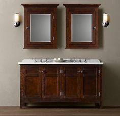 Restoration Hardware.  I think that this is a vanity that I had pinned before from a different angle, but I am still coming back to it.