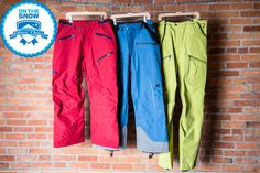 These three men's ski pants were deemed Editors' Choice for 2015. Here's why they made our favorites list.   - OnTheSnow