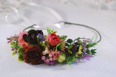 Flower crown Wedding headband Flower headband Floral crown