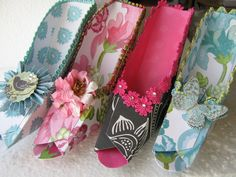 Marie Antionette inspired fancy paper shoe favor boxes. $60.00, via Etsy.