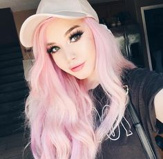 New Hair Color Pastel Pink Dyes Ideas Pastel Pink Hair, Hair Color Pink, Baby Pink Hair, Dye My Hair, New Hair, Candy Hair, Coloured Hair, Grunge Hair, Hair Highlights