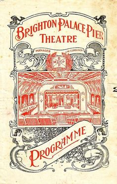 A Programme for Robinson Crusoe at the Palace Pier Theatre, Brighton in 1923