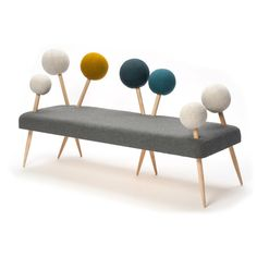 fogarasi zoltan demeter enlarges pin cushion into soft sofa Bench Furniture, Design Furniture, Unique Furniture, Kids Furniture, Modular Furniture, Inexpensive Furniture, Sofa Design, Interior Design, Arredamento