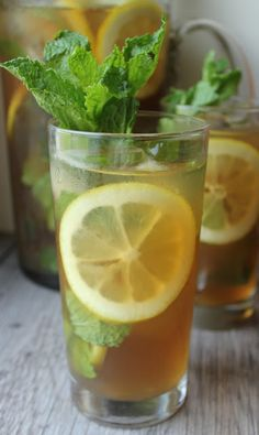Lemon Mint Iced Tea...with Rum. Lemon recipe curated by SavingStar. Save money the smart and simple way on your groceries and online shopping with SavingStar.com!