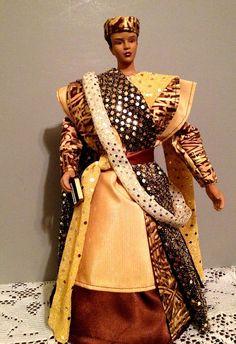 African American Black Male Doll Wisdom OOAK by Divineangelshop, $75.00