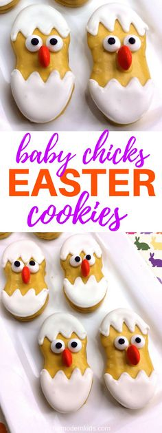 Baby Chicks Easter Cookie | For a fun Easter dessert, try this yummy recipe that uses Nutter Butter cookies. Make these Easter cookies as a fun treat or a snack after a fun game of Easter egg hunt. #Easter #EasterCookies #EasterRecipes
