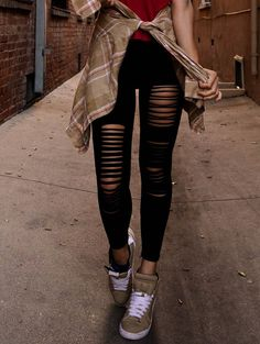Fashionable Style Solid Color Hipster Slimming Leggings For Women in Black | Sammydress.com