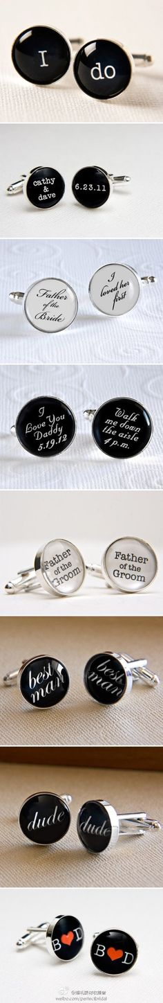 Favor cuff links