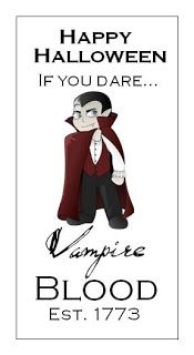 Free Vampire Blood Tag Printable