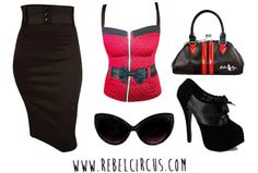 Put together your own, original pinup outfit - sunglasses to shoes - by shopping rebel circus