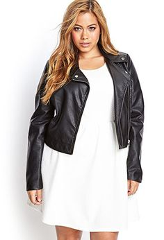 Faux Leather Moto Jacket | FOREVER21 PLUS - 2000123126