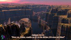 """– Salmos 31:14 – """"Pero yo, Señor, confío en ti; yo he dicho: ¡Tú eres mi Dios!"""""""
