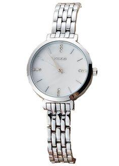 Amazon.com: Kezzi Women's K1447 Crystal Quartz Watch White Dial Silver Stainless…
