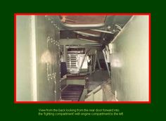 SADF.info  RATEL  VIEW from the back looking from the rear door forward into the fighting compartment with engine compartment to the left.