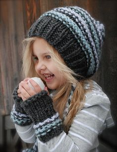 Pretty and quick:   The Jersey Cap/Mitt Set pattern by Heidi May. (COSTS $5.50 for pattern)