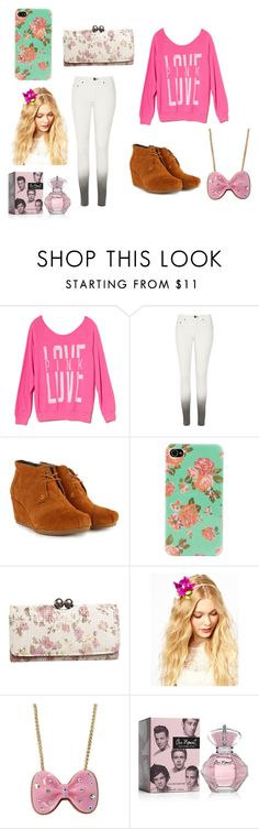 """Weekday school or"" by ariana-sermeno ❤ liked on Polyvore featuring Victoria's Secret PINK, rag & bone/JEAN, TOMS, ALDO, Wet Seal, Johnny Loves Rosie and Betsey Johnson"