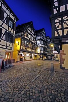 Calles de Estrasburgo, Francia.