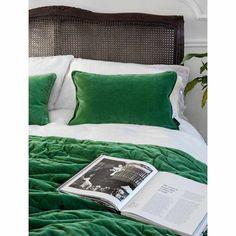 Plushious Velvet Bedspread in Emerald   Green French Bedroom Velvet Throw