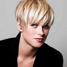 Sparkling Short Fluffy Full Bang Light Blonde Synthetic Hair Wig For Women