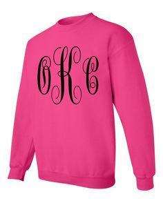 monogrammed sweater, monogrammed ssweatshirt