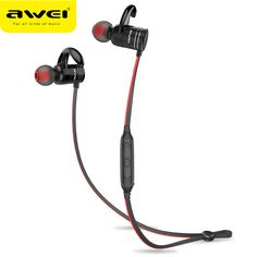 Cheapest AWEI Wireless sport Headphone Bluetooth Earphone For Phone magnet  Cordless Headset Earpiece with mic music d3c740f9d306