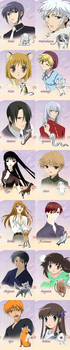 Fruits Basket — Zodiac (by the way, i must say Ayame-Sama looks marvelous<3 <3!!!)