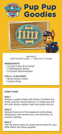 Make PAW Patrol rice cereal treats as a birthday treat.