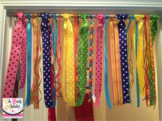 The Daily Alphabet: Monday Made It: Ribbon Curtains