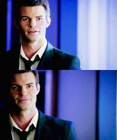 Elijah Mikaelson, your shirt and tie is undone. Come, let me help you. <3