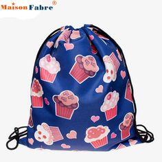 Fashion Unisex Backpacks mochila 3D Printing Bags Drawstring Backpack  san.13pin