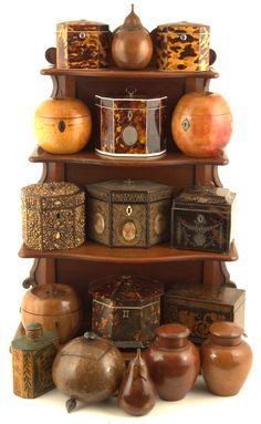 A collection of antique tea caddies from UK Auction News