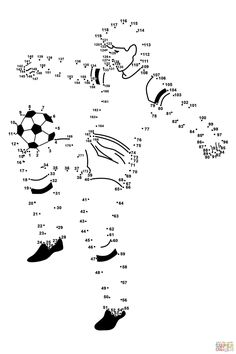 Soccer Player dot to dot Soccer Theme, Soccer Birthday, Soccer Party, Educational Games For Kids, Kids Learning, Activities For Kids, Soccer Crafts, Dot To Dot Printables, Elementary Physical Education