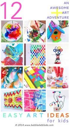 12+Easy+Art+Ideas+for+Kids