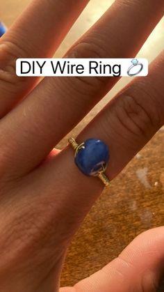 Diy Jewelry Set, Wire Jewelry Making, Diy Crafts Jewelry, Fun Diy Crafts, Ring Crafts, Bracelet Crafts, Jewelry Making Tutorials, Ring Tutorial, Magical Jewelry